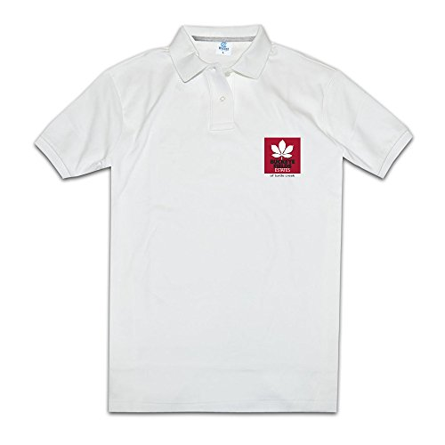 KONGYII Men Buckeye Estates Logo Unique Mens Polo