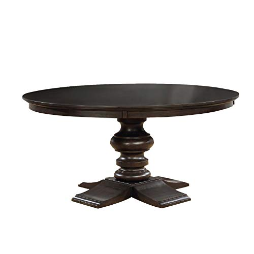 Best Quality Furniture D33DT Dining Round Table (Single) Wood, Cappuccino