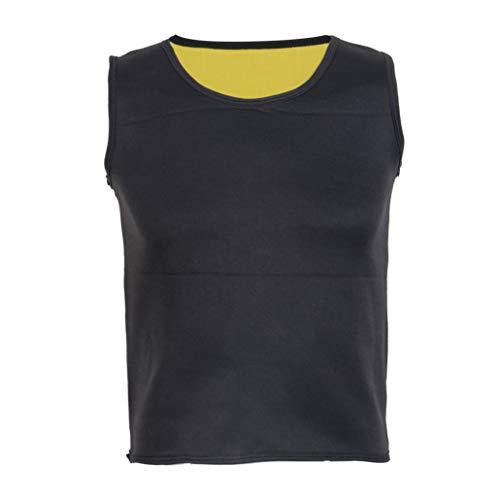 ASO-SLING Men's Sweat Vest Neoprene Sauna Waist Trainer Slimming Body Shaper Workout Tank Tops for Weight Loss Fat Burner Black