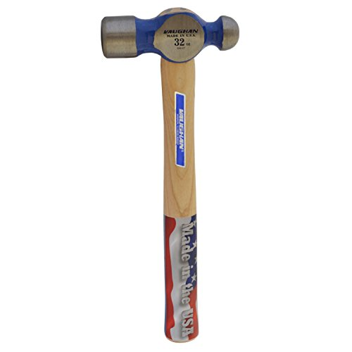Vaughan S432 32-Ounce Hickory Handle Super Steel Ball Pein Hammer, 15 3/4-Inch Long. 32 Steel Ball