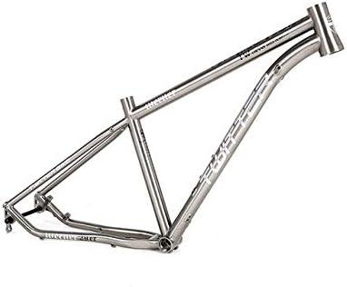 MAIKONG Cuadro de Bicicleta de montaña de aleación de Titanio Cuadro de MTB Ligero Cuadro de Bicicleta de montaña 17.5 / 29er Cuadro de Bicicleta MTB Enrutamiento Interno de Cables: Amazon.es: Deportes