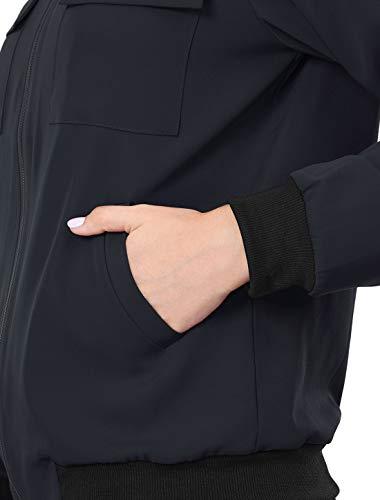 K pocket Dame Multi Zip Blouson Léger Avant Blue Allegra wpUq5tdq