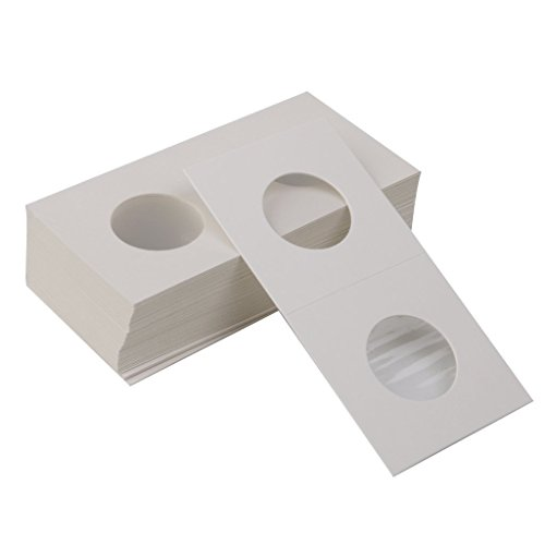 Grocery House 50pcs 40mm 2x2 Cardboard Resealable Coin Holders 50mm Coin