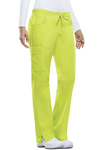 Everyday Scrubs Flare Leg (Everyday Scrubs Signature by Dickies Women's Mid Rise Drawstring Cargo Pant X-Large Lime)