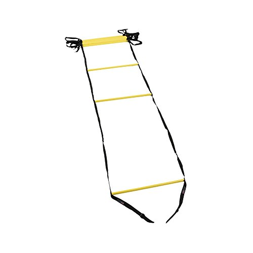 Rung Round (Power Systems Agility Ladder, 15 Feet x 20 Inches, Black/Yellow (30692))