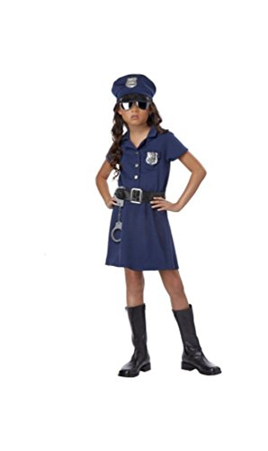 Girl Cop Costume (Police Officer Kids Costume - Large)