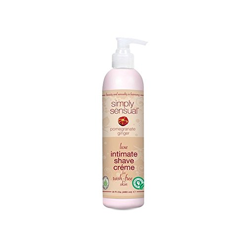Simply Sensual Shave Cream - 8oz- Pomegranate Ginger - Ginger Shaver