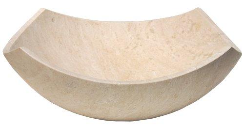 UPC 661799736695, Arched Edges Beige Travertine Bowl Vessel Sink