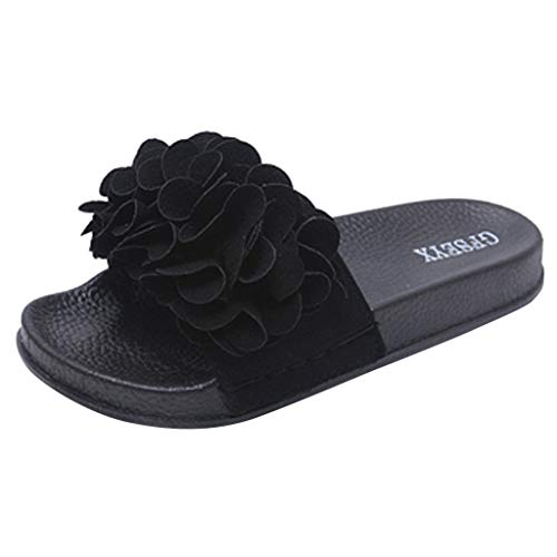 YKARITIANNA Women Slipper Summer Flower Slipper Fashion Casual Home Slippers Beach Shoes 2019 Summer Black