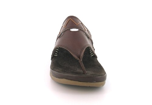 cc699761567c New Womens Ladies Brown Gluv Leather Toe-Post Wedged Sandals Mules - Brown  - UK SIZE 8  Amazon.co.uk  Shoes   Bags