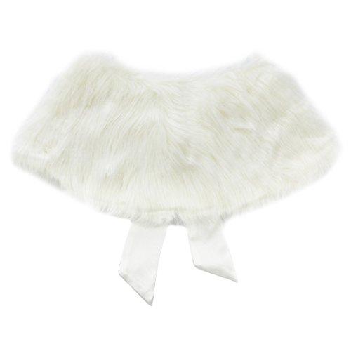 UPC 603526272618, TIAOBU Girls Princess Faux Fur Bolero Shoulder Cape Bridesmaid Shawl Stole Shrug Beige one size
