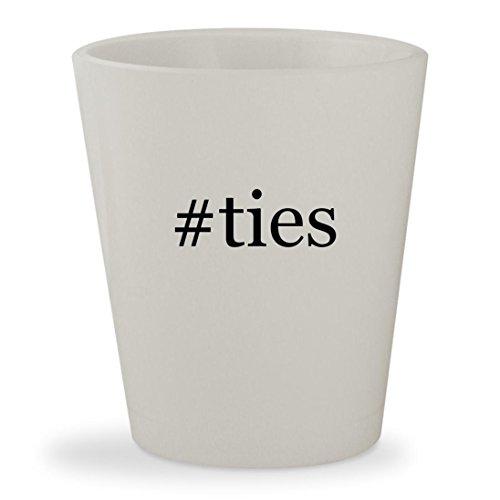 Price comparison product image #ties - White Hashtag Ceramic 1.5oz Shot Glass