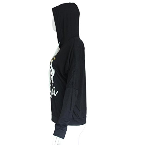 Coton Femme Blouse Imprimé s Noir rouge Hoodie manches Noir xl bleu Long Casual Chemisier Sweatshirt Transer Femmes ® Pull over Tops 0x6qFwES8