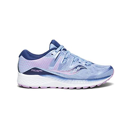Saucony Women's Ride ISO Running Shoes (7.5 B(M) US, Blue/Navy/Purple)