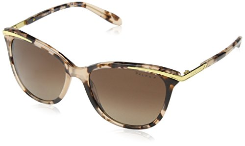 Ralph Women's RA5203 Sunglasses Pink Tortoise / Brown Gradient Polarized - Ralph Sunglasses Polarized Lauren