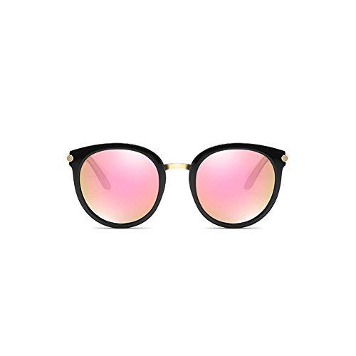 DT Grandes Conducción Cara Gafas de 4 de de polarizadas Sol Redonda de Gafas Sol de Color Marco Gafas Bnq7W0rBF