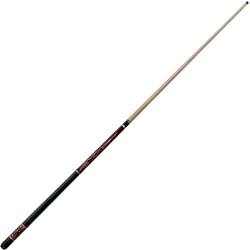 2 Piece Hardwood Saloon Design Pool Stick Cue with Case - Includes Bonus Chalk Holder! by TMG