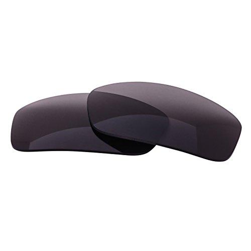 LenzFlip Replacement Sunglass Lenses for Ray Ban RB 2027 Predator 2 RB2027 (62mm) - Gray Black Polarized (Wrap Predator Sunglasses)