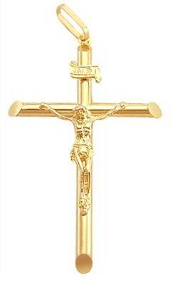 amazon com 14k yellow gold jesus crucifix cross pendant charm new