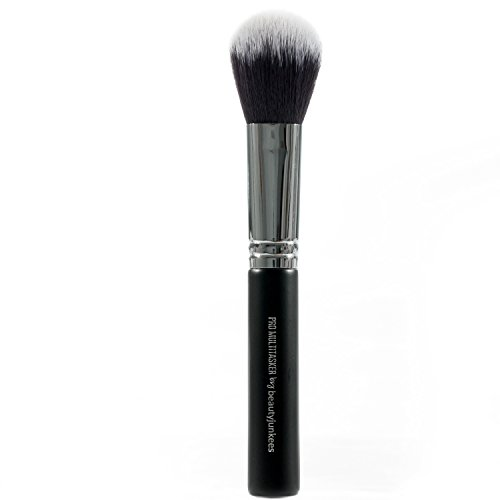 (Face Powder Multitask Makeup Brush – Large Fluffy Powder Make Up Brush for Blush, Contour, Bronzer Full Face Buffing and Blending Loose, Compact, Mineral Powders; Synthetic, Vegan, Cruelty)