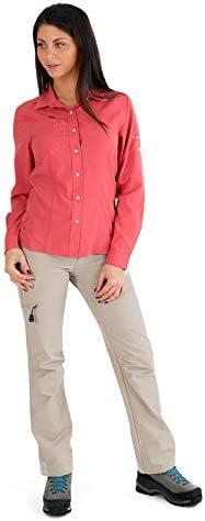 Anti-mosquitos-Camisa de senderismo y viaje CIMALP ALICANTE 2 para mujer, color Rosa - coral, tamaño 38: Amazon.es: Deportes y aire libre