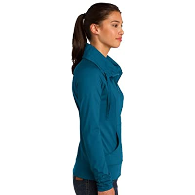 Sport Tek Ladies Sport-Wick Stretch Full-Zip Jacket. LST852 at Women's Clothing store