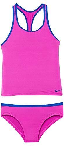 Nike Girls Racerback Sport Tankini Set (Fuchsia Blast, 7)