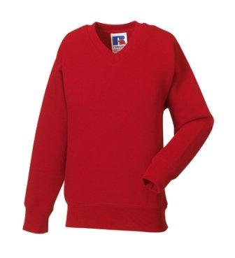 Jerzees Big Boys' Russell Schoolgear V Neck Sweatshirt 11 12 (Jerzees V-neck Sweatshirt)