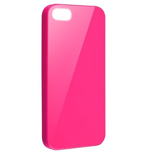 SODIAL(R) TPU Gummi Haut Case Kompatibel mit Apple iPhone 5, rosa Gelee