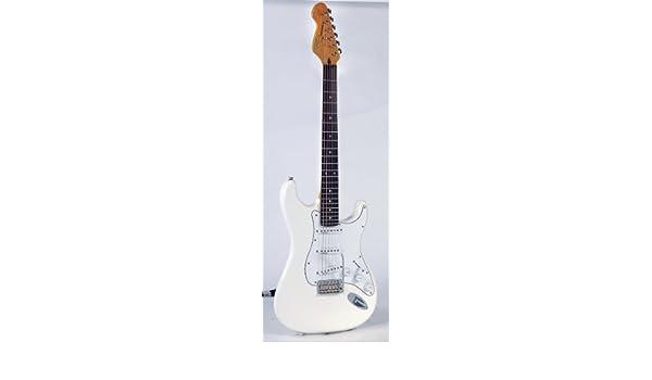 Vintage Guitars V6 Olympia White Fillmore - Guitarra eléctrica Stratocaster, color blanco: Amazon.es: Instrumentos musicales