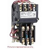 Siemens 14BP32AA81 Heavy Duty Motor Starter, Ambient Compensated Bimetal Overload, Manual/Auto Reset, Open Type, 3 Phase, 3 Pole, Standard Auxiliary Contacts, 00 NEMA Size, 9A Contactor Amp Rating, 110-120/220-240 at 60Hz Coil Voltage
