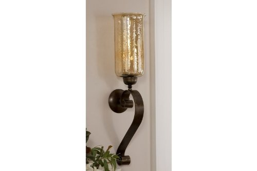 Uttermost Joselyn Bronze Candle Wall Sconce,