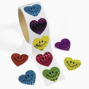 Smiley Hearts Stickers (Smiley Heart)