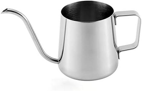 RaiFu コーヒーポット ロング ナロー スパウト 304ステンレススチール ハンギング 耳 ハンド コーヒーメーカー 鈍い 注ぐ ポット 250ml