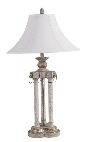 ORE International 8027A 36-Inch Deluxe Table Lamp, Brushed Ivory