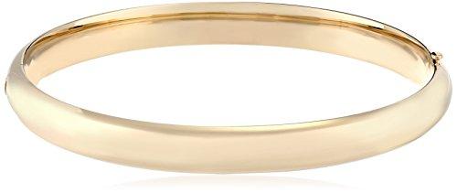 - 14k Yellow Gold-Filled Large Polished Hinged Bangle Bracelet
