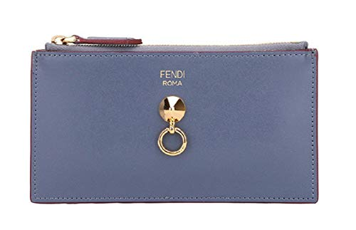 Fendi Coin Purse - Fendi By The Way Grey Zipped Card Case Wallet Coin Purse 8M0388 F11C3