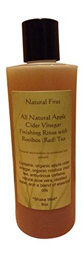 Apple Cider Vinegar Hair (Natural First Organic Apple Cider Vinegar Finishing Rinse w/ Rooibos (Red) Tea to Stimulate Hair Growth)