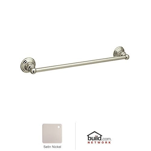 Rohl ROT1/18STN 18-Inch Country Bath Single Towel Bar in Sat