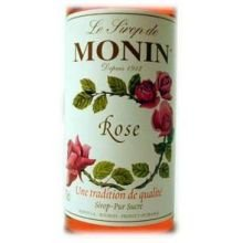 Monin Rose Flavor Syrup, 750 Milliliter -- 12 per case. by Monin
