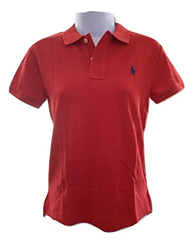 Ralph Lauren Polo Women's Classic Fit Mesh Polo Shirt (RL2000 Red, Small) (Red Classic Polo Mesh)