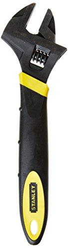Stanley MaxSteel Einmaulschlüssel, verstellbar, 39mm x 300mm Länge, Chrom-Vanadium Stahl, Kopf angewinkelt, 0-90-950