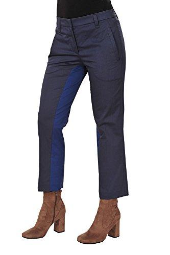 Brunello Cucinelli Pantaloni Donna 38 IT Blu scuro Blu Scuro cotone normale Regular Cut