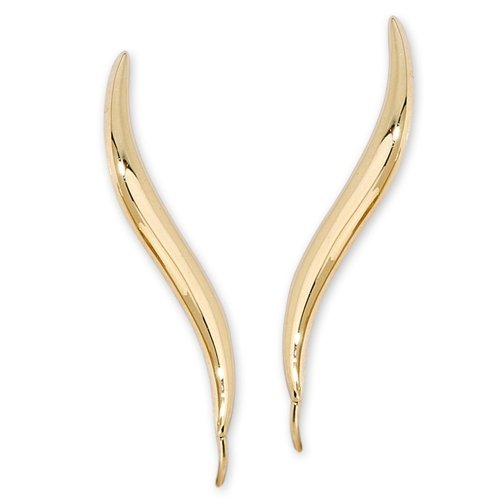 Orogem Classic Ear Pin style Earrings, 14k Yellow Gold by Jose Jay