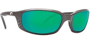 Costa del Mar Men's Brine Polarized Iridium Oval Sunglasses, Gunmetal, 58.8 mm