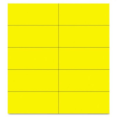 """Dry Erase Magnetic Tape Strip (Pack of 25) Size: 0..875"""" H x 2"""" W, Color: Yellow"""