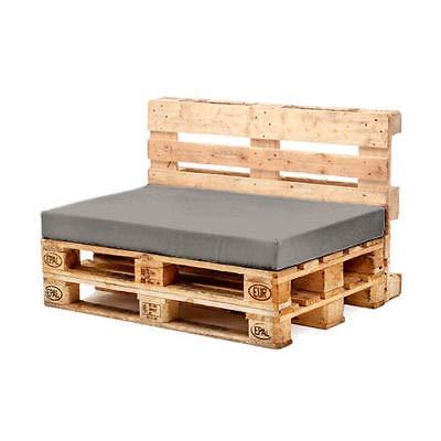 Euro Pallet Muebles de jardín Gris Asiento cojín Impermeable ...