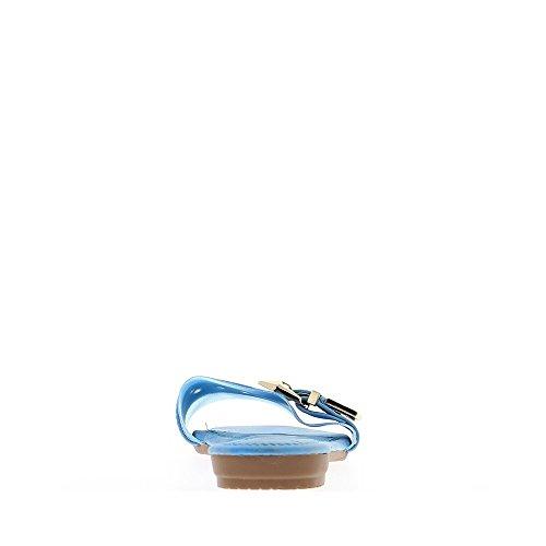 Mujer descalza Fuchsias con efecto de tela anchas en tacon 1 cm