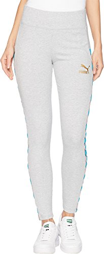 PUMA Women's x Coogi Leggings Light Gray Heather Large 25.5