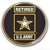 Elektroplate Army (Retired) Chrome Auto Emblem